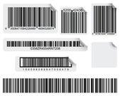 Stampa di codici a barre — Vettoriale Stock