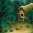 Forest cottage — Stockfoto