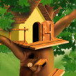 Small House on the Tree - Stock Photo