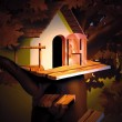 Small House in the Night — Stock Photo