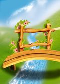 Wooden Footbridge — Stock Photo