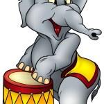 Circus Elephant — Stock Vector