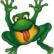 Happy Frog — Stock Vector