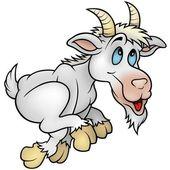 Running Goat — Stock Vector