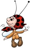 Flying Ladybird — Stock Vector