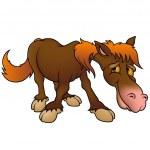 Brown Horse - Stock Vector