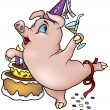 Royalty-Free Stock Vector Image: Piglet and Birthday