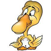 Yellow Little Duck — Stock Vector