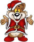 Christmas Happy Bear — Stock Vector