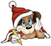 Santa Claus Dog — Stock Vector