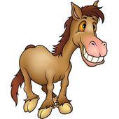 Humorista de caballo — Vector de stock