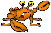 Small Crab — Stock Vector