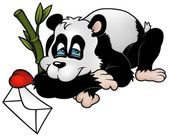 Amorous Panda — Stock Vector