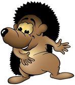 Cheerful Hedgehog — Stock Vector