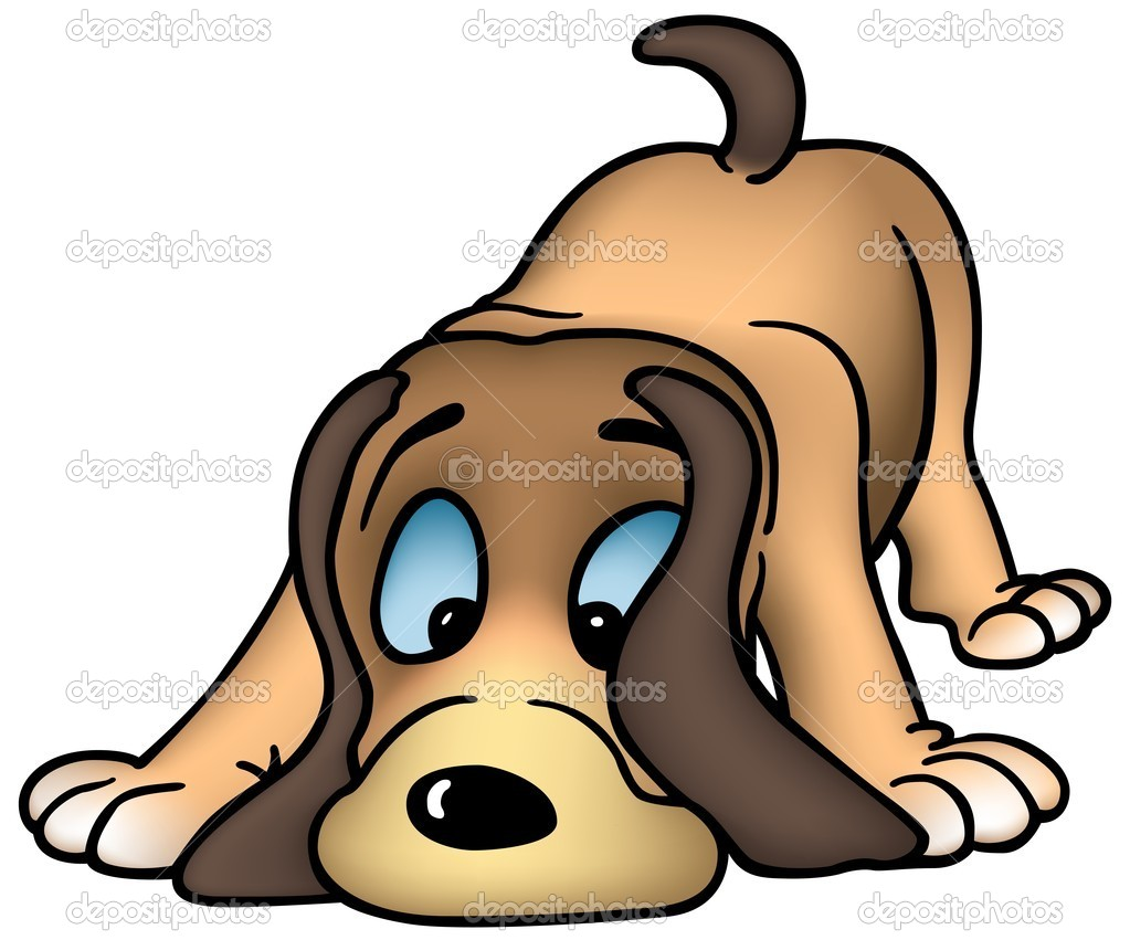 Sniffing Dog - colored cartoon illustration, vector  Stock Vector #2925126