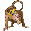 Clever Monkey — Stock Vector