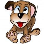 Cheerful Puppy Dog — Stock Vector