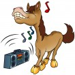 Horse and Music - Stock Vector