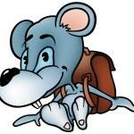 Mouse in School — Stock Vector