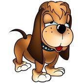 Standing Dog Basset — Stock Vector