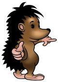 Clever Hedgehog — Stock Vector