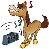 Horse and Music — Stock Vector