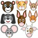 Animal Baby Set 1 — Stock Vector
