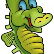 Green Sea Horse - Stock Vector