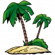 Palms Island — Stock Vector