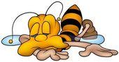 Sleeping Wasp — Stock Vector