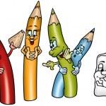 Happy Crayons — Stock Vector