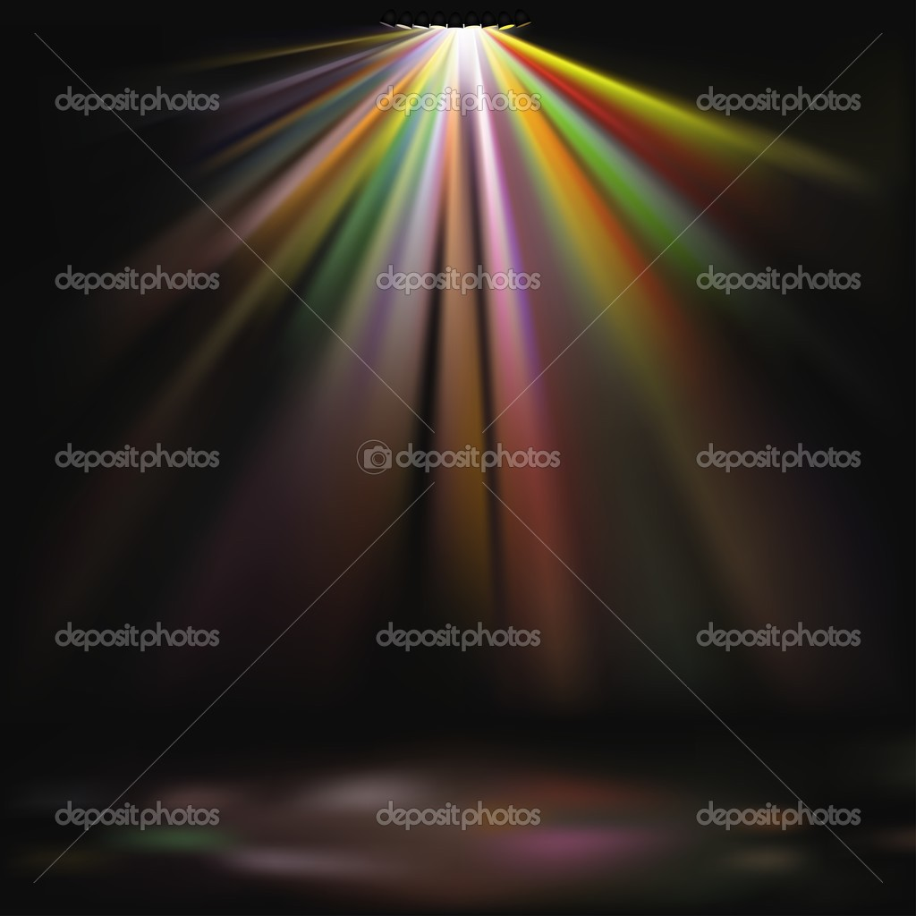 Disco Lights - colored background illustration, vector — Stock Vector #3019718