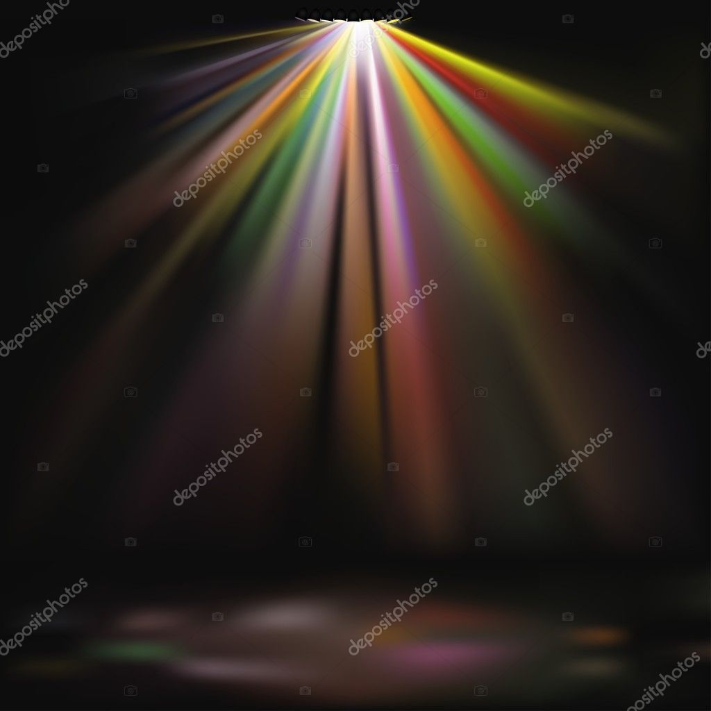 Disco Lights - colored background illustration, vector — Vektorgrafik #3019718