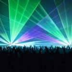 espectáculo de láser grande — Vector de stock