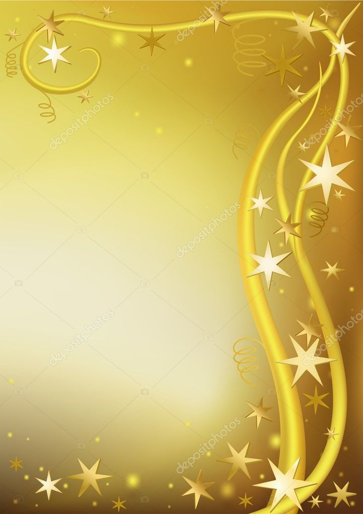 Gold Christmas - colored abstract illustration, vector — Stock Vector #3029614