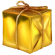 Royalty-Free Stock Vector Image: Gold Christmas Present