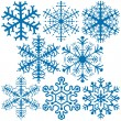 Royalty-Free Stock 矢量图片: Snowflake Collection