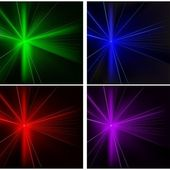 Laser Rays Set — Stock Vector
