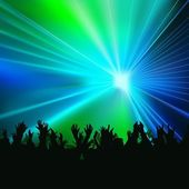 Laser Show — Vettoriale Stock