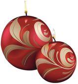 Velas de navidad rojo — Vector de stock