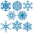 Snowflake Collection — Imagen vectorial