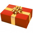 Royalty-Free Stock Vector Image: Red Christmas Present