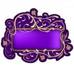 Violet Floral Banner — Stock Vector #3069008