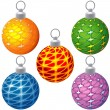 Royalty-Free Stock Vector Image: Textured Christmas Balls