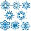 Stock vektor: Snowflake Collection