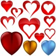 Heart Icons — Vettoriali Stock