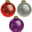 Royalty-Free Stock Vector Image: Christmas Balls with Florals