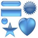 Aqua Buttons — Stock Vector