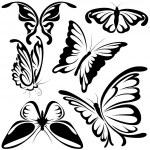 Abstract Butterflies — Stock Vector