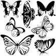 Abstract Butterflies - Stock Vector